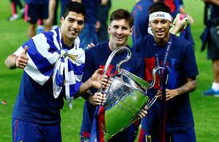Messi, Suarez and Neymar are more popular than Madrid's trio