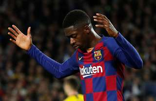 Dembele rues a miss for Barcelona
