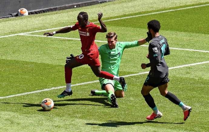 Sadio Mane et Naby Keita buteurs à Anfield — Match d'entraînement