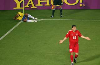 Rivaldo's play-acting at the 2002 World Cup shocked the world