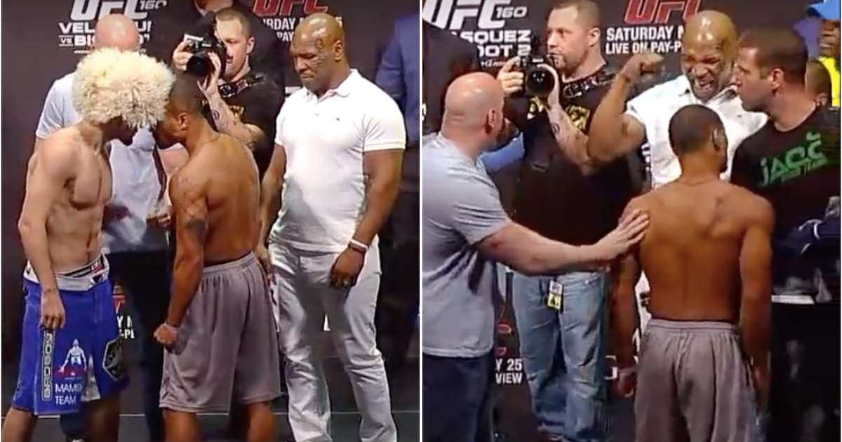 Mike Tyson's brilliant reaction when Khabib completely lost his head at a weigh-in