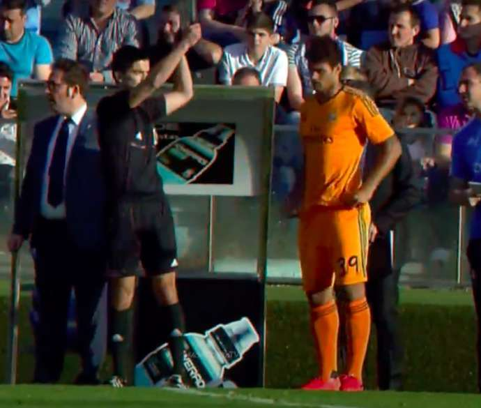 Willian Jose comes on for Real Madrid