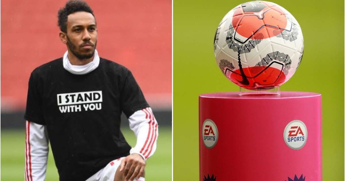Premier League players confirm shirt names will be replaced by 'Black Lives Matter'