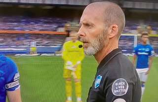 Mike Dean with his lockdown beard