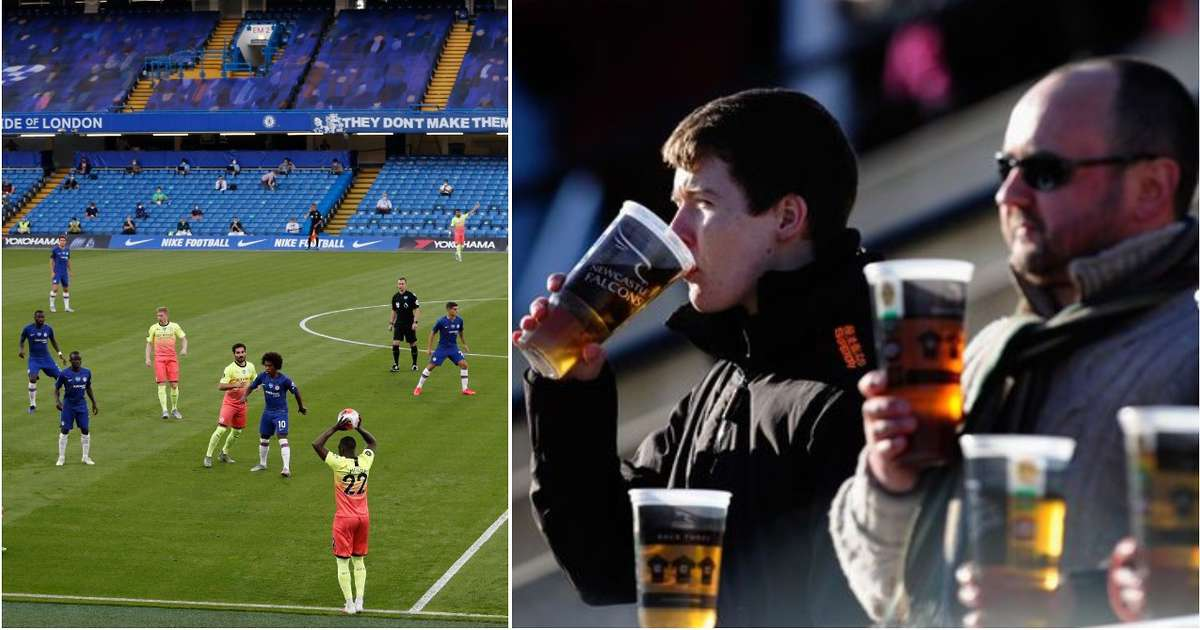 Premier League clubs want to let fans drink alcohol in their seats when they return