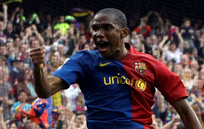Eto'o with Barcelona