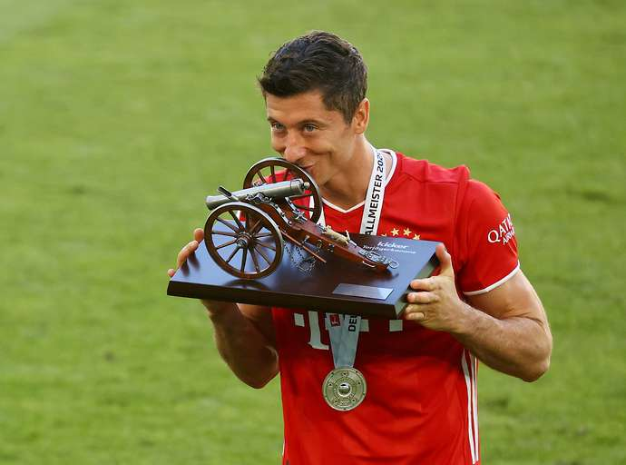 Lewandowski with Bayern