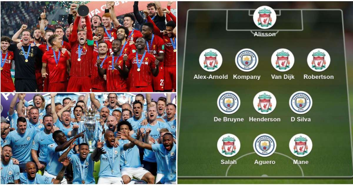 Fans vote for combined XI of Liverpool's PL champions and Man City's Centurions