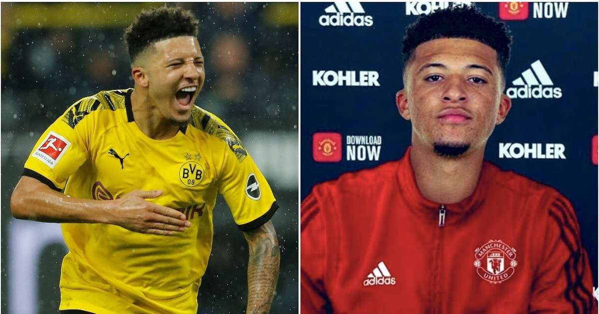 Jadon Sancho has now 'agreed personal terms' on a move to Man Utd - GIVEMESPORT
