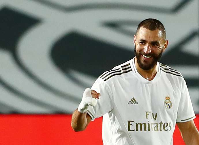 Benzema with Real Madrid
