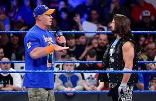 Cena was against WWE signing Styles in 2016