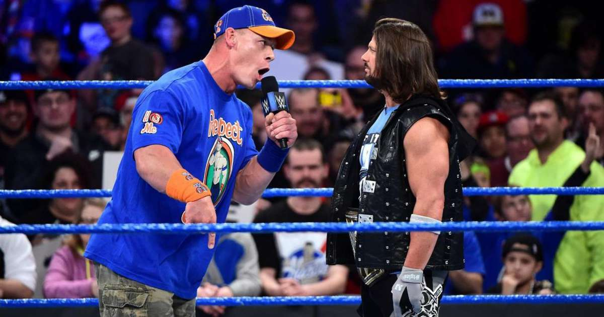 WWE news: Why John Cena didn't want WWE to sign AJ Styles in 2016 - GIVEMESPORT
