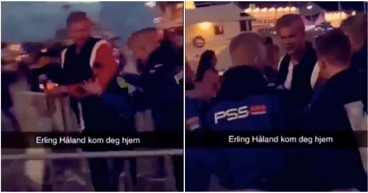 Borussia Dortmund Striker Erling Haaland Caught Being Kicked Out Of A Nightclub In Norway Givemesport