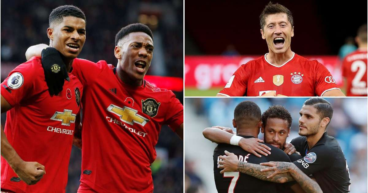 Ranking the best front threes in Europe this season - Man Utd only in fifth