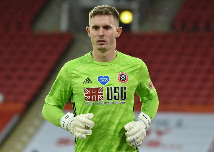 Henderson in action for Sheffield United