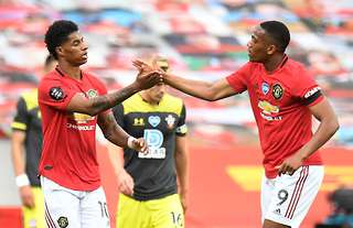 Marcus Rashford and Anthony Martial both have 21 goals for the season