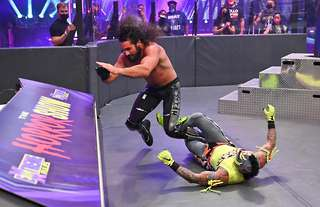 Rollins and Mysterio met at Extreme Rules