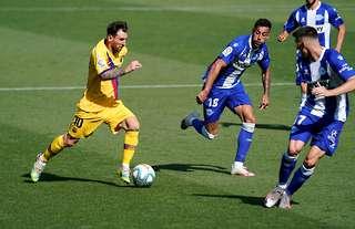 Lionel Messi scored 25 goals and assisted 21 more in the 2019/20 La Liga season