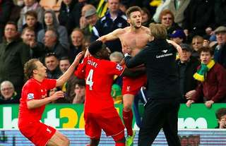 Adam Lallana scored a 95th-minute winner vs Norwich in 2016