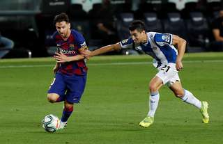 Barcelona's Lionel Messi is one of the greatest dribblers of all time