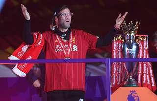 Jurgen Klopp with the Premier League title
