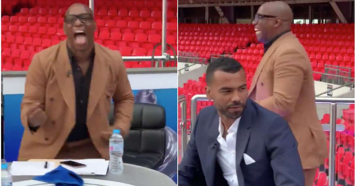 Ian Wright was representing all Arsenal fans during the FA Cup final