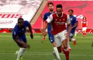 Pierre-Emerick Aubameyang scored twice in the FA Cup final vs Chelsea