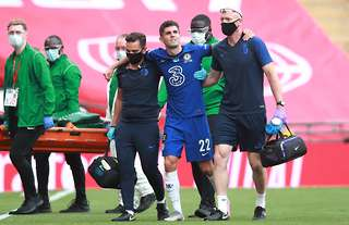 Pulisic was distraught as he was forced off through injury