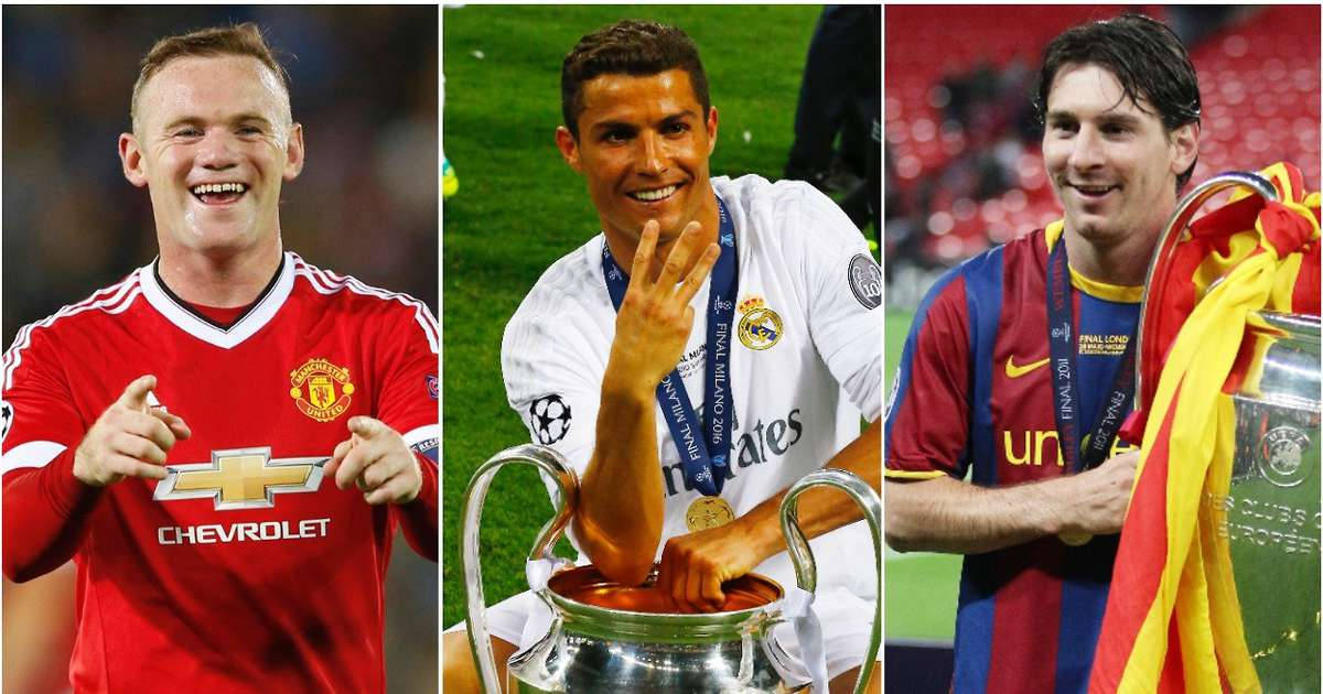 The 25 players with the most goal involvements in Champions League history