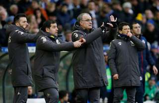 Marcelo Bielsa and his coaching staff