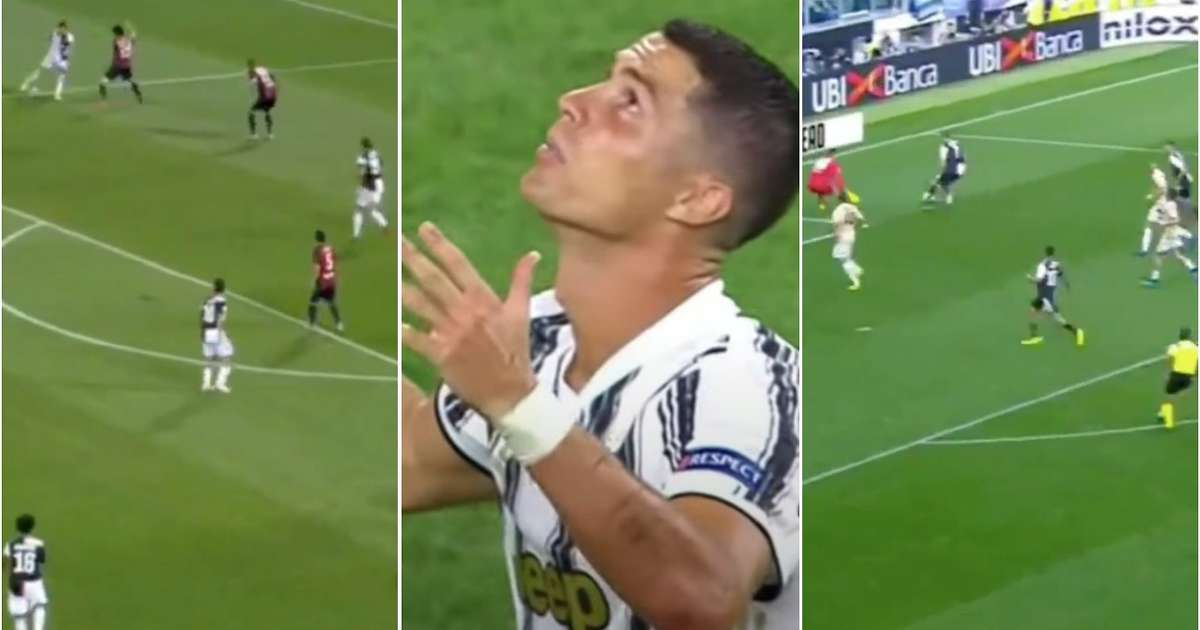 Cristiano Ronaldo shown being 'let down' by Juventus teammates in viral video - GIVEMESPORT