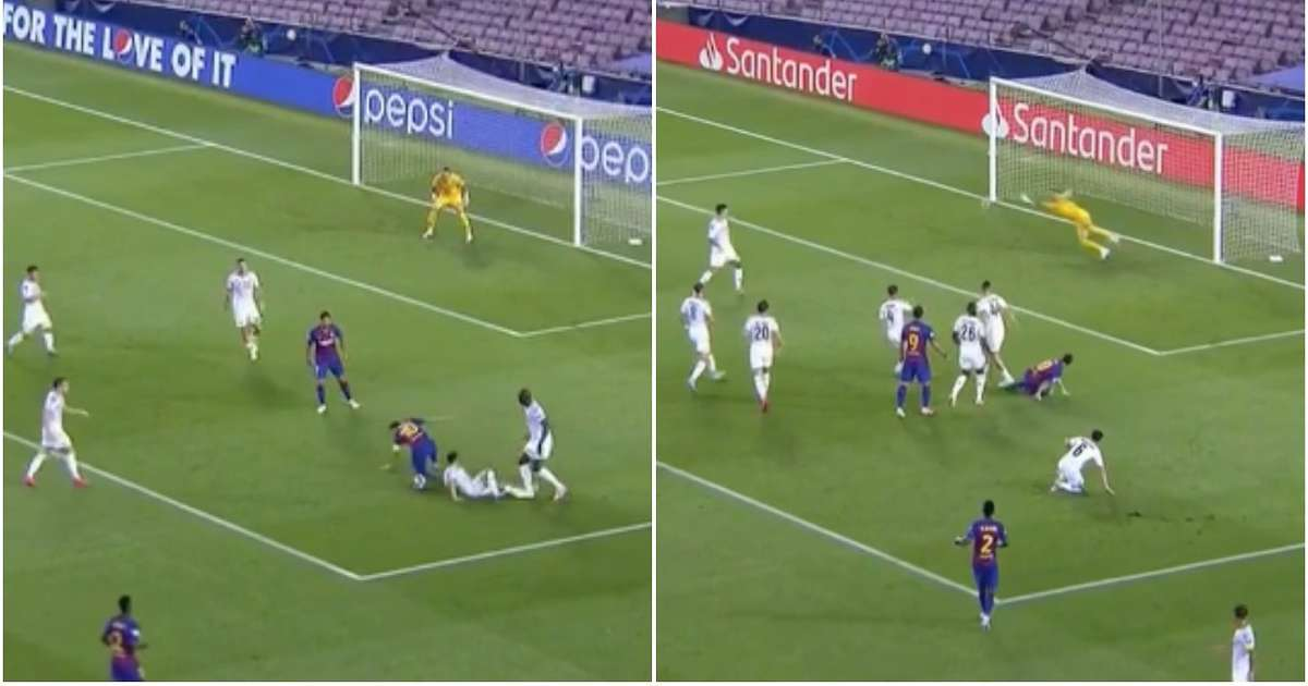 Lionel Messi scores incredible solo goal for Barcelona vs Napoli ...