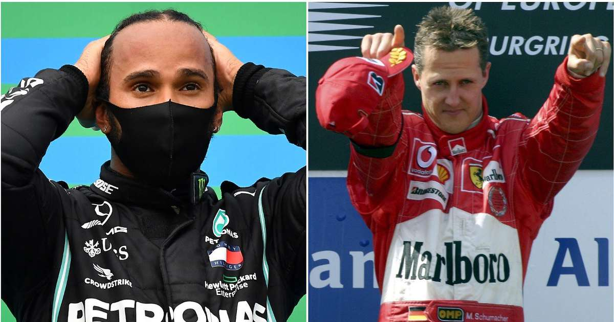 Lewis Hamilton now has as many podium finishes as Michael Schumacher