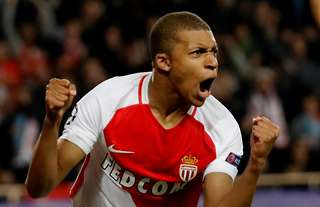 Kylian Mbappe is one of the youngest goalscorers in Champions League history