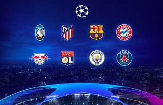 The final eight teams left in the 2019/20 Champions League