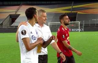 Ole Gunnar Solskjaer spoke with Zeca at full-time
