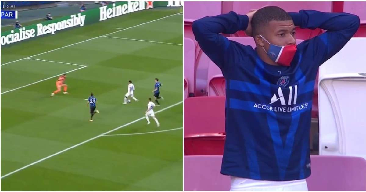 Neymar just produced an embarrassing miss vs Atalanta and Mbappe couldn't believe it
