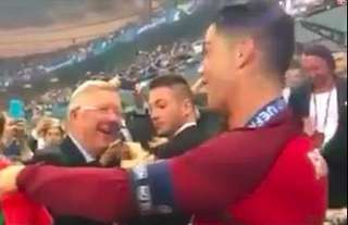Sir Alex Ferguson waited to congratulate Cristiano Ronaldo on winning Euro 2016