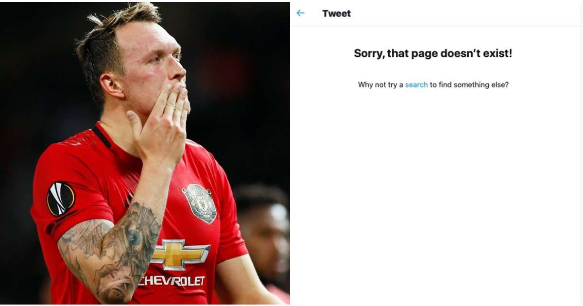 Twitter delete post mocking Phil Jones after receiving complaint from Manchester United