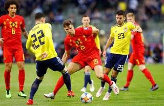 Oliver Burke against Belgium