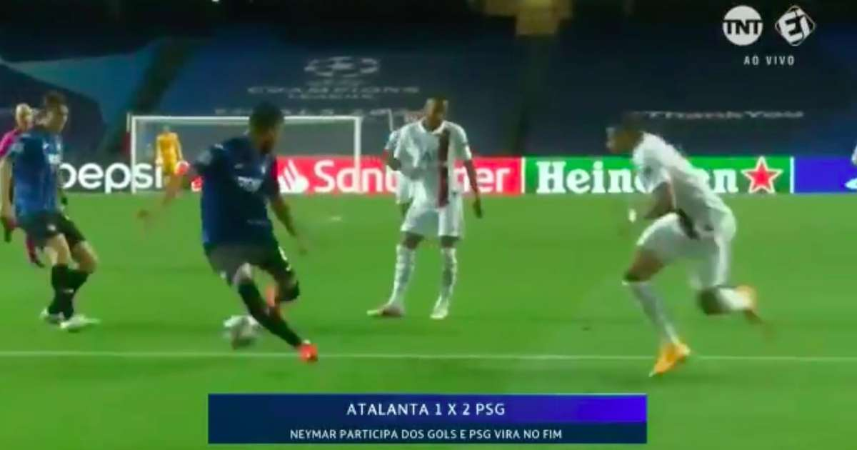 Atalanta 1-2 PSG: Neymar's match-winning pass to Mbappe is even better in slow motion - GIVEMESPORT