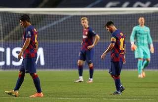 Barcelona players dejected