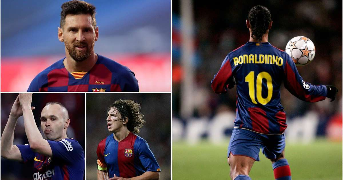 The greatest Barcelona players ever have been ranked - Lionel Messi is only 2nd