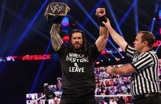 Reigns won the main event on Sunday night