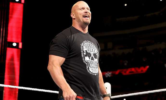 Stone cold tops the list of greatest wrestlers ever