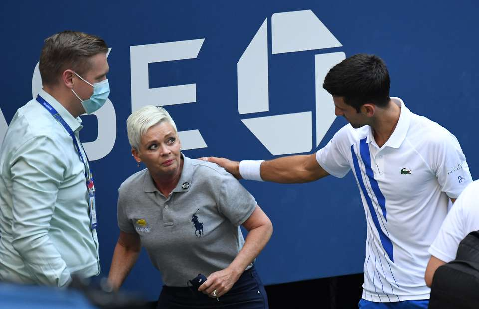 Us Open New Angle Shows How Hard Novak Djokovic Hit The Ball At Line Judge Givemesport