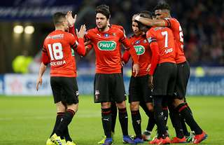 Clement Grenier in action for Rennes