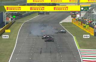 Chaos in the F1 Tuscan GP
