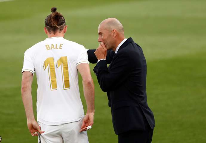Bale's no.11 has been removed