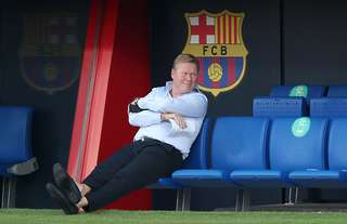 Ronald Koeman took charge of Barcelona during their 3-1 friendly win over Girona last night